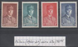 France Petain (1940-41) Y/T Série 470/73 Neufs ** - 1941-42 Pétain