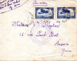 MAROC. PA 2 Sur Enveloppe Ayant Circulé En 1925. Avion Survolant Casablanca. - Maroc (1891-1956)