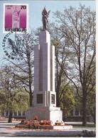 Lithuania  , 1991 , Kaunas , Statue Of Liberty  , Maxicard - Lithuania