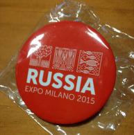 EXPO MILAN  2015. Souvenir Spécial BROCHE  Du Pavillon De La Russie  (magnifique !) état Neuf Non Utilisé - Recordatorios