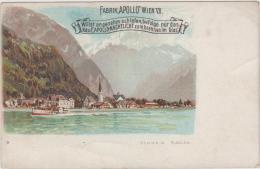 "AK - Flüelen - WERBEKARTE KERZENFABRIK ""APOLLO"" In Wien, Ca. 1910 - Werbepostkarten"