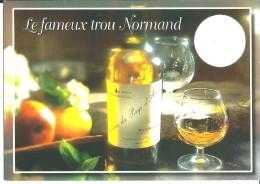 ! - Santé - Le Trou Normand - Un Bon Vieux Calvados - Carte Postale Avec Timbre Oblitéré - Gesundheit