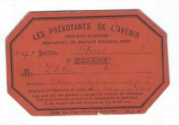 Carte De Retraité/Les Prevoyants De L'Avenir / Caisse Civile De Retraite/Arras/1888        BA34 - Bank & Insurance
