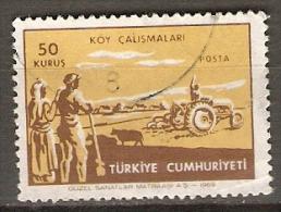 TURQUIE.   -      AGRICULTURE   /   TRACTEUR    -    Oblitéré - Agriculture
