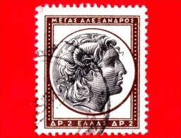 GRECIA - HELLAS - Usato - 1955 - Arte Antica Greca - Testa Di Alessandro Magno - 2 - Usati