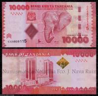 TANZANIA 10000 SHILLINGS 2015 PICK 44 NEW SIGNATURE SC UNC - Tanzania