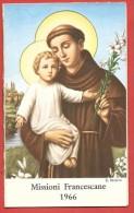 CALENDARIETTO - S. Antonio - Missionario Francescano Piemontese 1966 - Procura Missionaria Francescana TORINO - 7 X 11 - Calendari