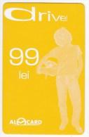 Moldova   Moldavie  , Prepaid Phonecard - Moldcell  , Alocard , Drive , 99 Lei ,  Used - Moldova
