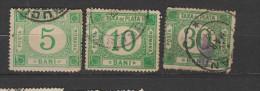 Yvert 16 - 17 - 18 Oblitéré - Port Dû (Taxe)