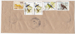 Registered SRI LANKA COVER Multi BIRD Stamps To UNDP United Nations Birds - Sri Lanka (Ceylon) (1948-...)