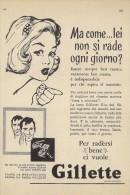 # GILLETTE BLADES 1950s Advert Pubblicità Publicitè Reklame Lamette Rasoio Lames Rasoir Cuchillas Klingen - Lames De Rasoir