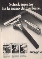 # SCHICK RAZOR BLADES 1960s Advert Pubblicità Publicitè Reklame Lamette Rasoio Lames Rasoir Cuchillas Klingen - Razor Blades