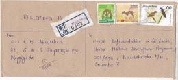 Registered KOHUWALA SRI LANKA To UNDP UNITED NATIONS COVER Bird Stamps Un Birds - Sri Lanka (Ceylon) (1948-...)