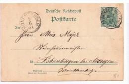 5 Pfennig 1901 / Oehningen (Baden) To Hohentengen / Deutsche Reichspost - Covers & Documents
