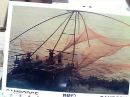 CAMBOGIA  KHMER FISHERMAN  PESCATORI  RETE  N1985   EW1721 - Cambogia