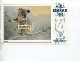 (Special 9) Australian Koala Reasearch 1990 Sheetlet - Koala - Cinderella Sheet (face Value $ 6.00 Sheet) - Cinderellas
