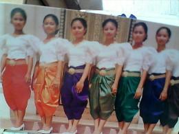 CAMBOGIA KHMER  GIRL WOMAN  COSTUMI   N1990   EW1731 - Cambogia
