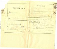 LBON10 - EMPIRE RUSSE TÉLÉGRAMME ANCIEN - Andere