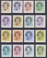 1981-1990 Koningin Beatrix Postfrisse Serie NVPH 1237  / 1252 - Nuovi