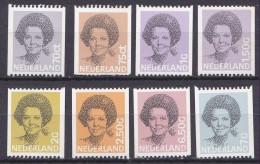 1981-1990 Koningin Beatrix Rolzegels Postfrisse Serie NVPH 1238  / 1251 A - Nuovi