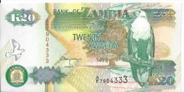 ZAMBIE - 20 Kwacha 1992 UNC - Zambia