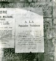 France Paris WWII Ville Ouverte Guerre Occupation Allemande Affiche  Ancienne Photo Juin 1940 - War, Military