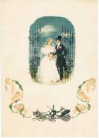 TELEGRAMME TELEGRAM DE LUXE ALLEMAGNE MARIAGE CALECHE CHEVAL BOUQUET  DE MARIE ANGE - Fêtes