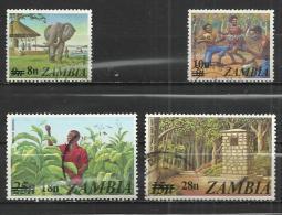 ZAMBIA 1979 - OVERPRINTED - CPL. SET - USED OBLITERE GESTEMPELT USADO - Zambie (1965-...)