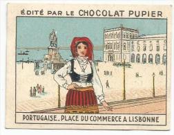 CHROMOS CHOCOLAT PUPIER - L'EUROPE - PORTUGAL - PLACE DU COMMERCE A LISBONNE. - Schokolade