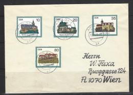 DDR - Beleg Mi-Nr. 2910 - 2913 Burgen (1) - [6] Democratic Republic