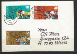 DDR - Beleg Mi-Nr. 2898 + 2900 + 2901 - 35 Jahre DDR - [6] Democratic Republic