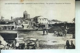 LES SAINTES MARIE De La MER Vue Générale Et Campement Des Bohémiens - Saintes Maries De La Mer