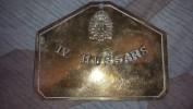 Plaque De Lit Anglaise 4ème Hussard Ww1 - 1914-18