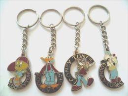 VINTAGE 1995 LOONEY TUNES Tweety Bird Bugs Bunny Daffy Duck Sylvester Key Chain Key Rings - Key-rings