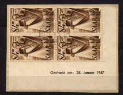 Saar,224,Br 25.Januar 1947 + VI,o,gep.,saardru - 1947-56 Allierte Besetzung