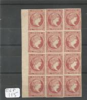 ESP  Edifil  48C Bloc De 12, Bord De Feuille Xx LUXE YT 43A - 1850-68 Royaume: Isabelle II
