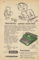 # HALDA CICERO MACCHINA DA SCRIVERE  1950s Advert Pubblicità Publicitè Reklame Typewriter Machine Ecrire Schreibmaschine - Altri