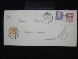 DANEMARK - Enveloppe De Svendborg Pour Marstal En 1944 Taxée - à Voir - Lot P7974 - Covers & Documents