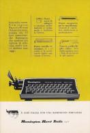 # REMINGTON RAND ITALIA Typewriter 1970s Advert Pubblicità Publicitè Reklame Machine A Ecrire Schreibmaschine - Other
