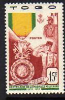 Togo N° 255  XX  Centenaire De La Médaille Militaire TB - Togo (1914-1960)