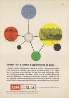# IBM Electronics Computer  Atomium Bruxelles 1950s Advert Pubblicità Publicitè Reklame Ordinateur Elektronik - Other Collections