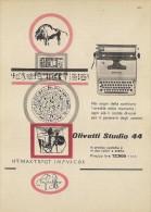 # OLIVETTI MACCHINA DA SCRIVERE  1960s Advert Pubblicità Publicitè Reklame Typewriter Machine Ecrire Schreibmaschine - Altri