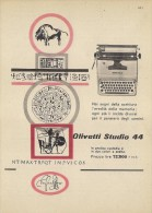 # OLIVETTI MACCHINA DA SCRIVERE  1960s Advert Pubblicità Publicitè Reklame Typewriter Machine Ecrire Schreibmaschine - Altre Collezioni