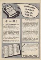 # SUPPLY  ROMA CALCULATORS 1950s Italy Advert Pubblicità Publicitè Reklame Calcolatrice Calculatrice Rechner - Altre Collezioni