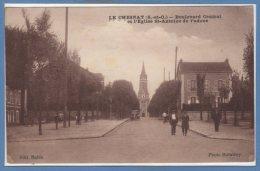 78 - Le CHESNAY --  Boulevard Central Et L'Eglise St Antoine De Padoue - Le Chesnay
