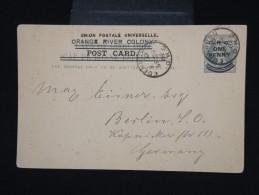GRANDE -BRETAGNE - ORANGE - Entier Postal Surchargé De Edenburg Pour Berlin En 1902 - à Voir - Lot P7978 - África Del Sur (...-1961)