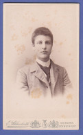 4457 / CDV-Photo Um 1890 - Portrait, Feiner Junger Mann - Hof-Fotograf: E. Uhlenhut, Coburg - Anonyme Personen