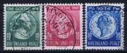 Deutschland French Zone Rheinland Pfaltz Mi Nr 46 + 48 Used - Zone Française