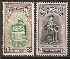 Trinite Trinidad & Tobago 1951 Universite University Set Complete - Trindad & Tobago (...-1961)