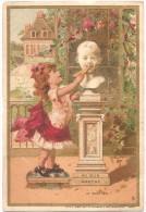 """Chromo AU BON MARCHÉ (Aristide Boucicaut, Paris) - """"Le Goûter"""" - Chromolithographie  Minot 8,2 X 12,1 Cm - Au Bon Marché"""